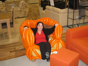 balloon armchair