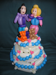 balloon wedding cake