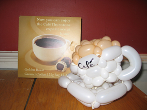 balloon coffee cup