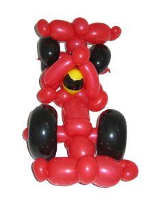 balloon formula 1 car