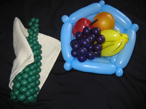 balloon fruit basket