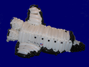 balloon space shuttle