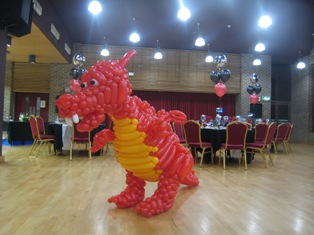 balloon red dragon