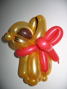 balloon gold rabbit