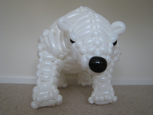 balloon polar bear